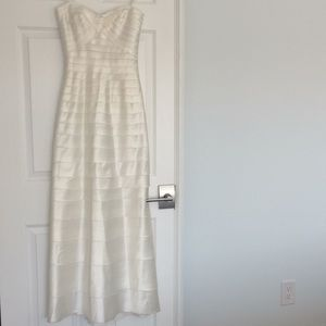 BCBGMaxAzria White Strapless Dress